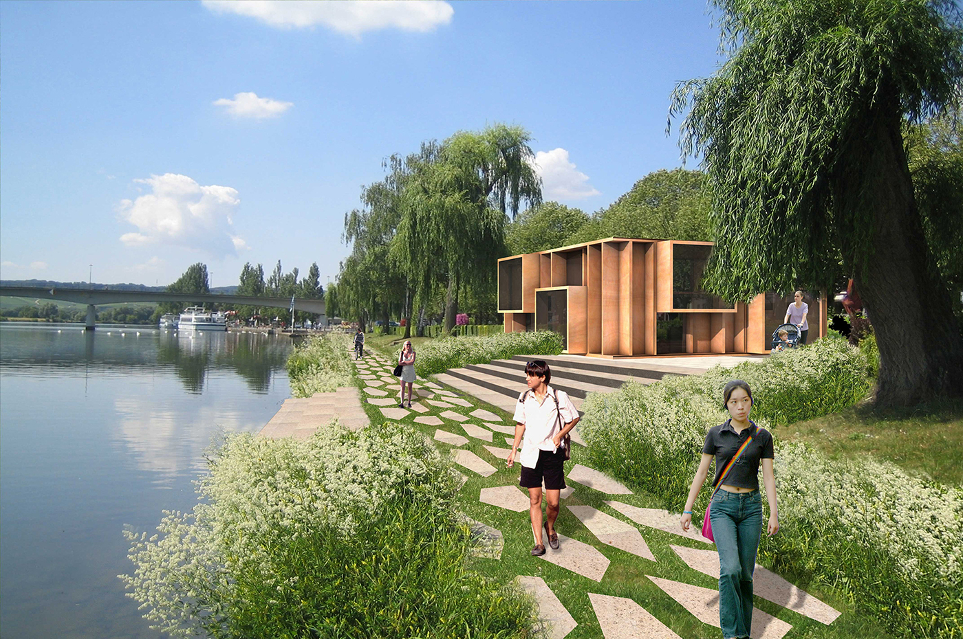 Remich Luxembourg  city images : ... , bicycle path and anti flooding measures remich luxembourg